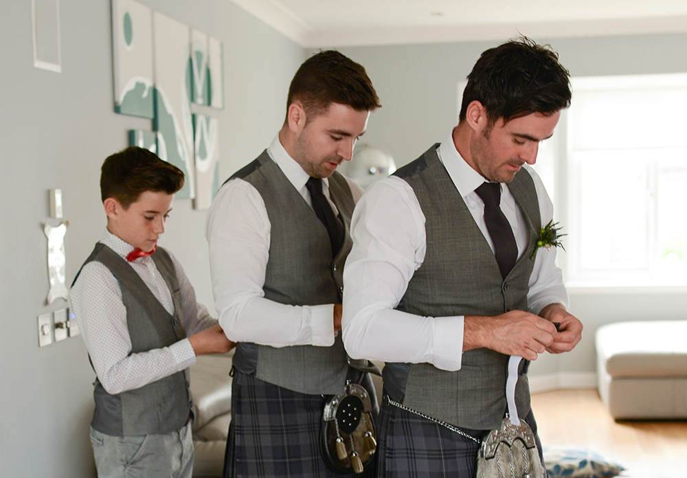 groom prep Inverness wedding