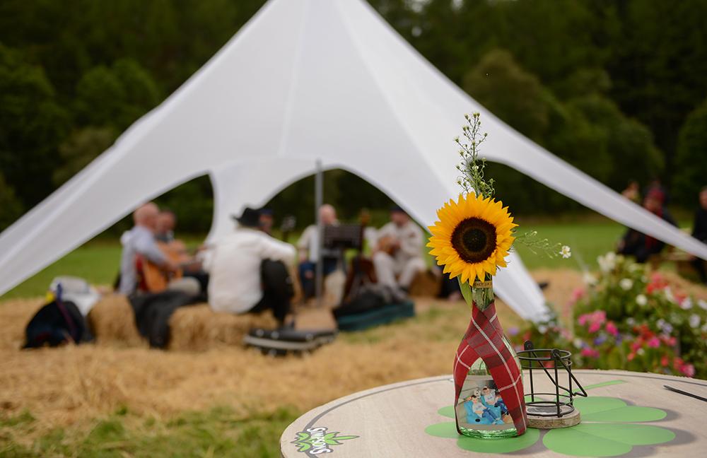 festival wedding detail