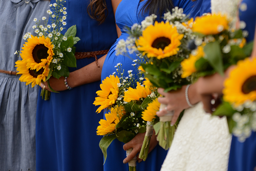 sunflower bouquet festival wedding