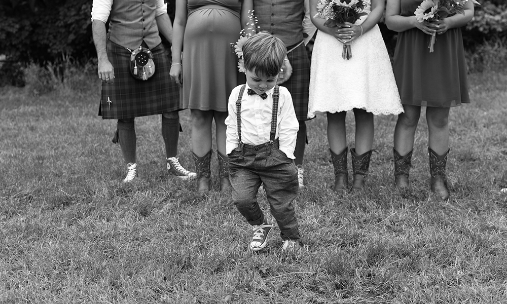 cute group shot Inverness wedding