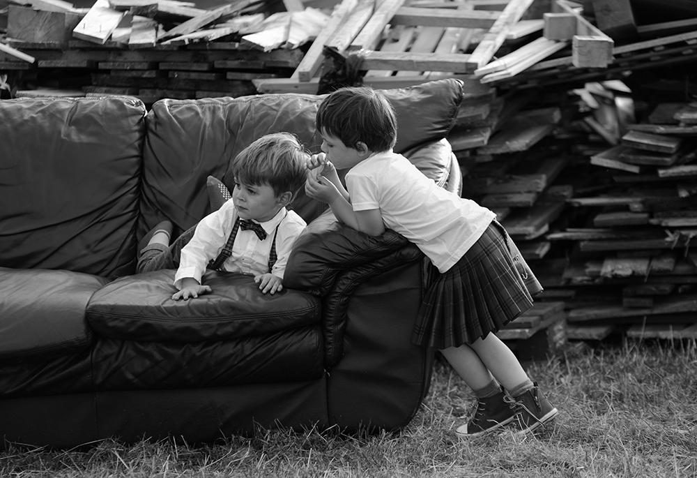 kids at festival wedding Inverness