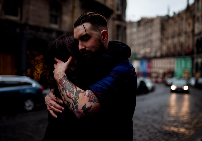 Edinburgh photographer couple shoot