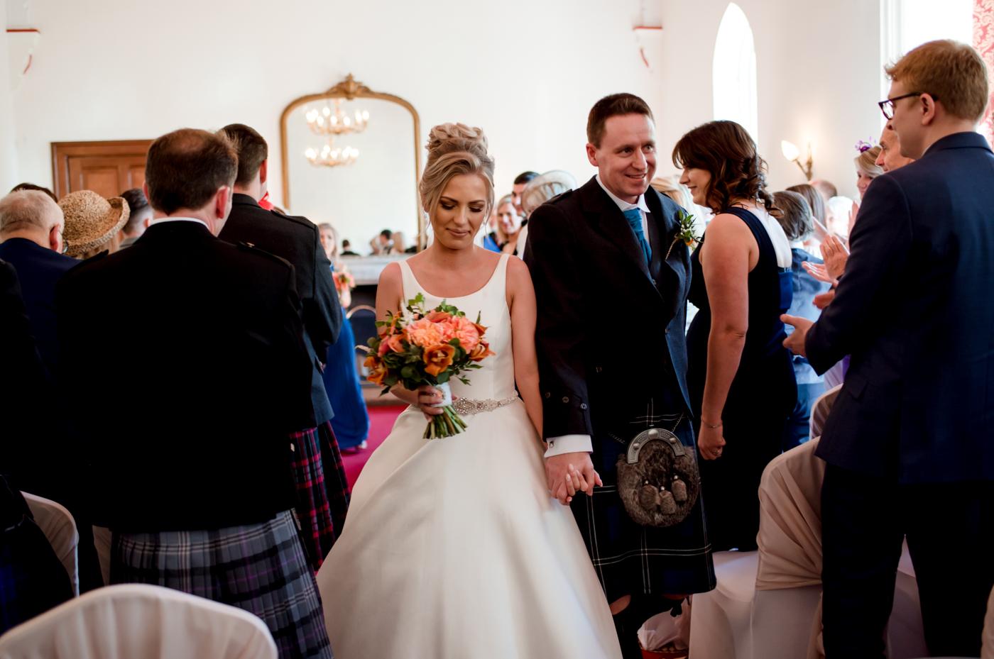 just married nairn wedding