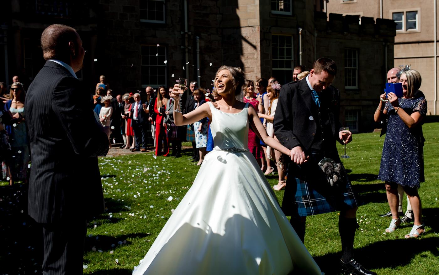 confetti shot nairn wedding