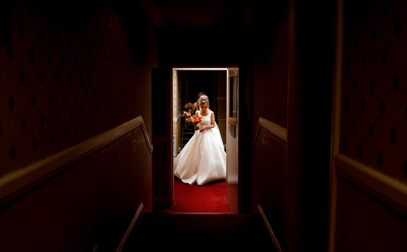 bride at newton hotel nairn wedding
