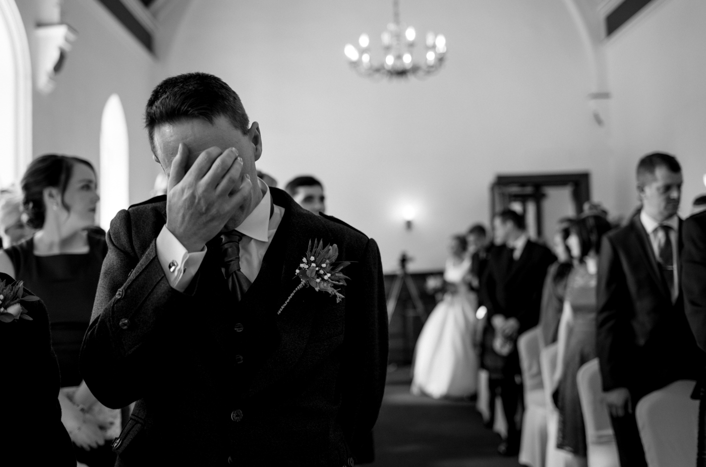 groom crying reaction