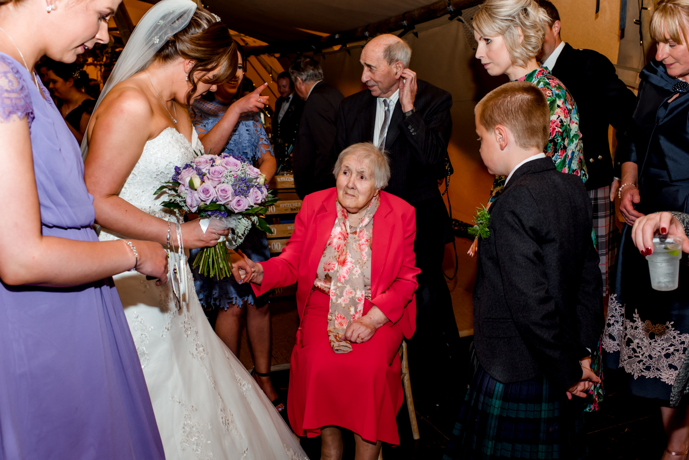 bride with granny